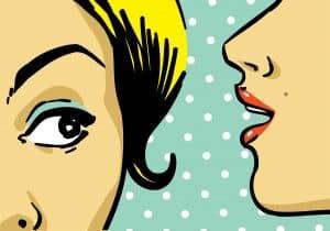pop art women gossiping