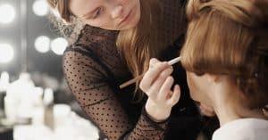 makeup application on woman