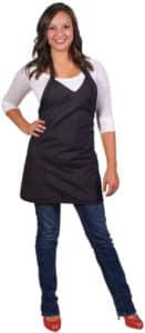 black hairstylist apron