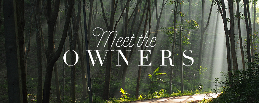 meet the owners header in the forest