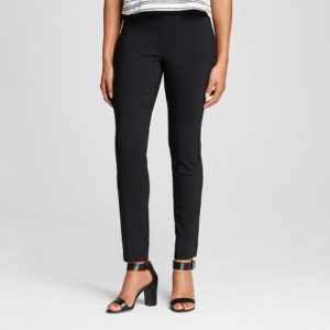 black womens chinos pants