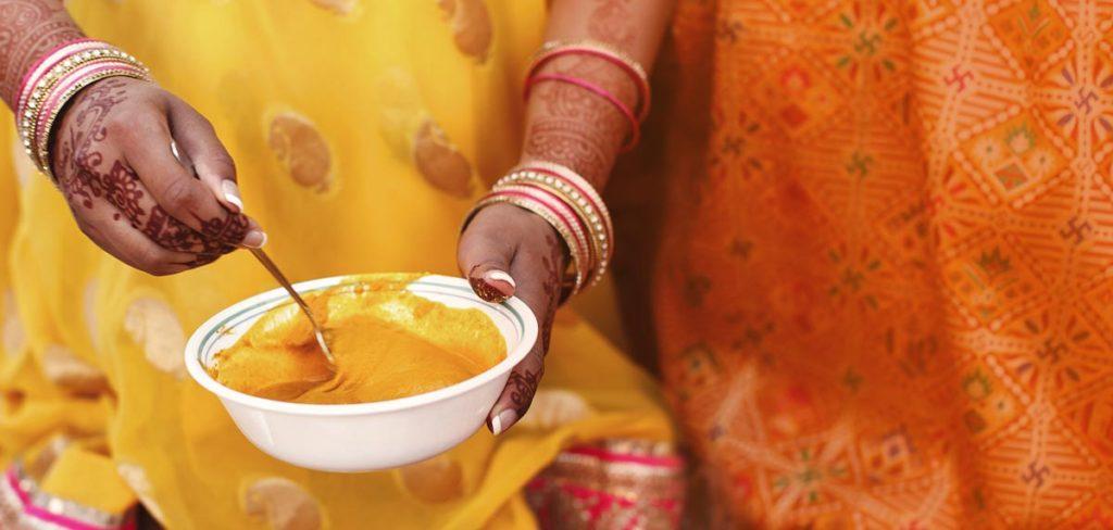 Haldi cermeony in India