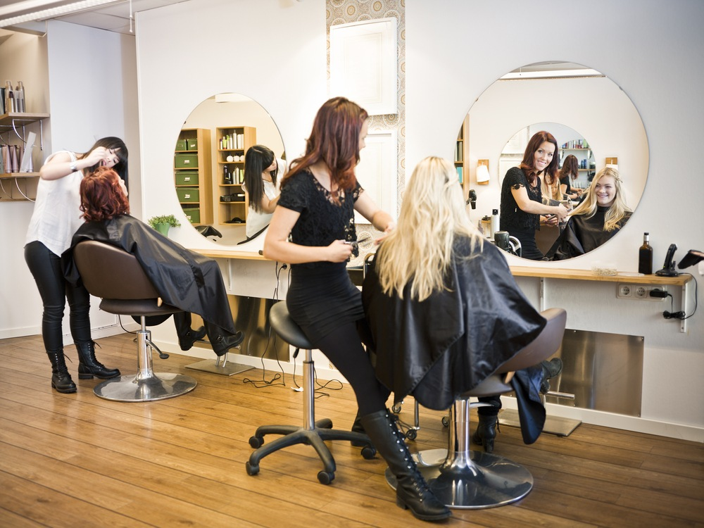 hair stylists in a salon