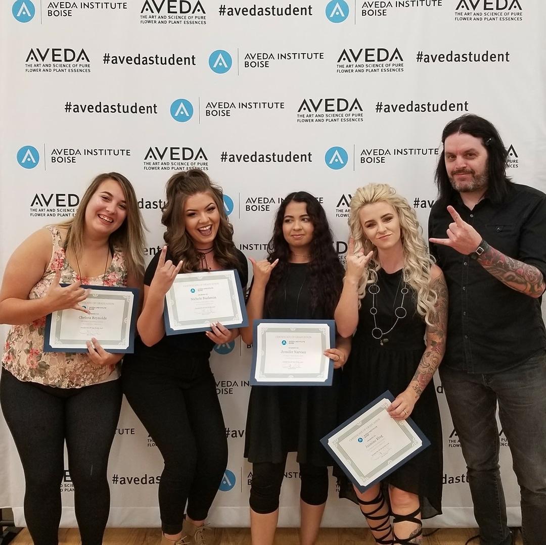 group of Aveda graduates